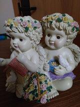 Twin Cherub Angel's Heavy Resin Music Box image 2