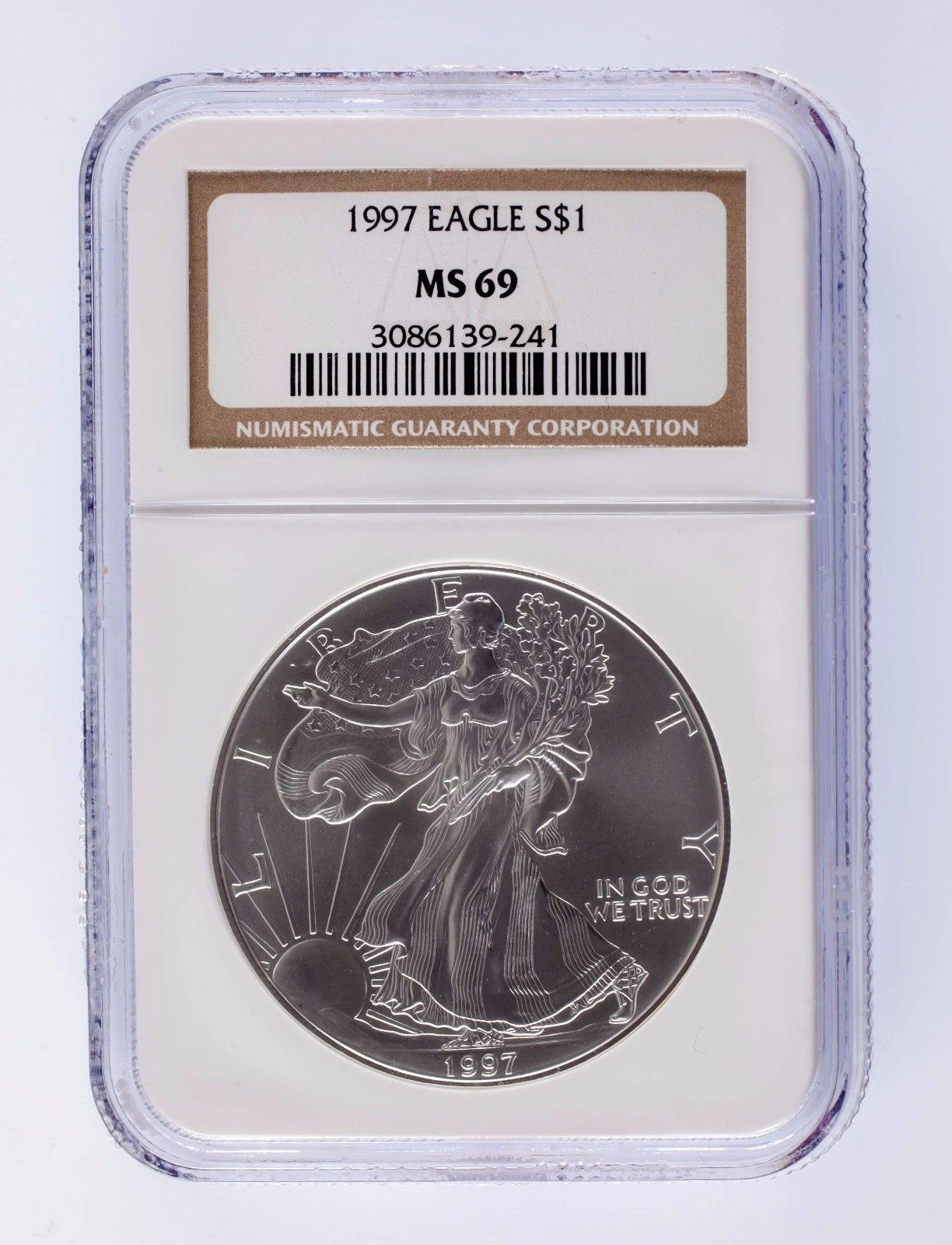 1997 Silver 1oz American Eagle $1 NGC Graded MS 69 - $74.24