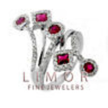 Fancy 1.75CT Vintage Style Natural Ruby Diamond Flower Ring 14K White Gold  - $2,375.01