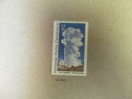 US 1972 8c Old Faithful Yellowstone National Parks Centennial Stamp Lot 2 - $1.00