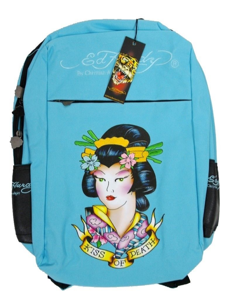 NEW ED HARDY CHRISTIAN AUDIGIER UNISEX SCHOOL BACKPACK LAPTOP BOOKS BAG GEISHA