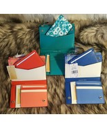 New Michael Kors Money Pieces Carryall Card Wallet Leather Blue OR Coral... - $69.99