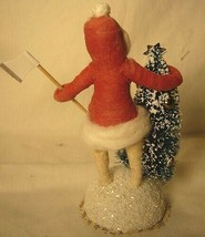 Vintage Inspired Spun Cotton Tree Chopper Girl # 79 Christmas image 2