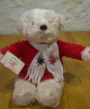 "Hallmark JINGLE BEAR 14"" Plush Stuffed Animal NEW  CHRISTMAS - $16.34"