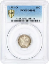 1902-O 10c PCGS MS65 - Barber Dime - Lovely and Original - $3,239.80