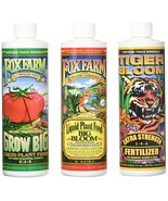 FoxFarm GLCMBX0006 Liquid Nutrient Soil Trio-Pints, Grow Big, Tiger Bloo... - $40.93