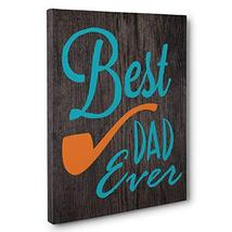 Father's Day Gift Best Dad Ever CANVAS Wall Decoration
