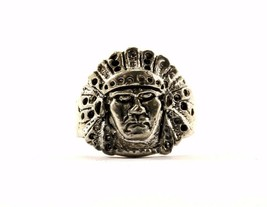 Vintage Indian Head Design Ring 925 Sterling RG 1124 - $19.99