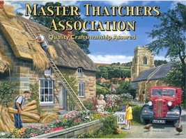 Master Thatcher's Asociación, Techo de Paja Casa de Campo Mediano Metal / - $10.73