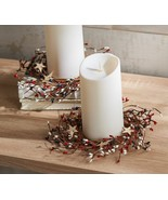 S/2 Americana Pip Berry and Star Candle Rings by Valerie    @CN3 - $193.99