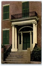 Early 1900s Doorway, Salem Club 1818, Salem, MA Postcard - $9.28