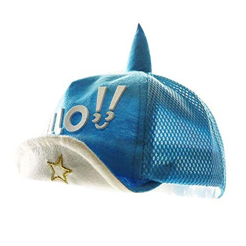 Great Gift for Baby Fashion Sunhat Cotton Hat Foldable Beach Hat Summer Hat Blue