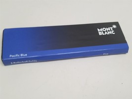"MontBlanc Rollerball Refill, Fine Pack Of 2 Pacific Blue 105163 ""USED"" - $12.99"