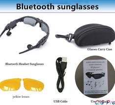 Sports Stereo Wireless Bluetooth 4.0 Headset Telephone Polarized Driving Sunglas - $47.99