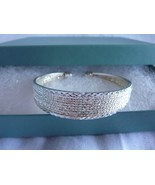 "Sterling Silver Cuff Bracelet 1/2"" Wide Adjustable - $58.75"