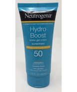 Neutrogena Hydro Boost Water Gel Lotion Sunscreen Broad Spectrum SPF 50 3oz - $17.41