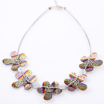 New 2016 Spring style Flowers necklace iron fashion stone necklace & pen... - $15.09