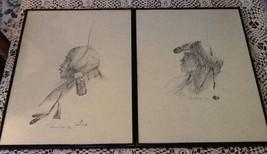 SET 2 Raymond Judge Chief&Princess Prints pencil Signed #, LE, AZ Navajo... - $85.50