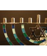 Hanukkah Menorah Star of David Silver Tone Hanukah Candles Candelabra, J... - $14.99