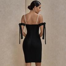 New Arrival Shimmering Black Off Shoulder Beaded Sexy Bodycon Night Club Party D image 4