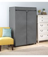 Double Rod Closet With Heavy Duty Zipper Gray Cover Only NEW - $27.73