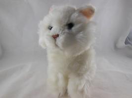 "Ganz Fluffy white haired Signature persian cat kitten 8"" tall Webkins Bl... - $14.84"