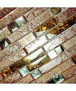 Retro Golden - 3-Dimensional Mosaic Decorative Wall Tile(6PC) - $89.09