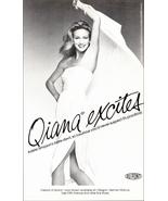 Quiana Excites Fashion Nylon 1980 Dupont AD Adele Simpson Designer Bare-... - $10.99