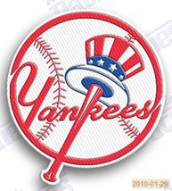new york yankees ny  iron on embroidered embroidery patch baseball  logo... - $6.99