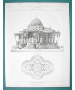 ARCHITECTURE PRINT 1869: PARIS 1867 Exposition Imperial Palace - $18.90