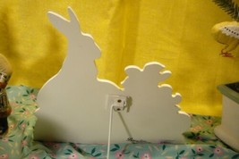 Bethany Lowe Bunny with Wheel Barrow Dummy Board image 2