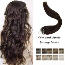 LaaVoo 16inch Micro Loop Hair Extensions Invisible Ring Beads Remy Real ... - $33.97