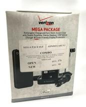 Verizon Mega Paquete Para IPHONE 4 - Estación, Funda, Cascos, Cargador de Coche, - $9.88