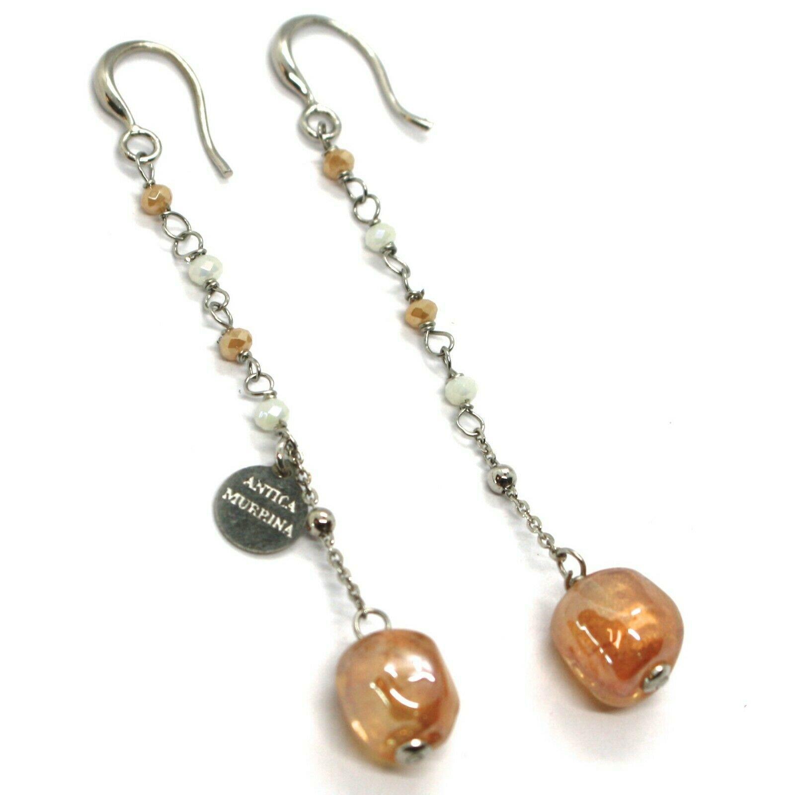 Drop Earrings Antica Murrina Venezia, OR564A10 Murano, Nugget Colour Amber