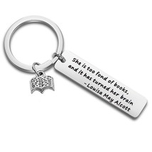 QIIER Book Lover Reading Book Club Keychain She is Too Fond of Books Quo... - $27.99