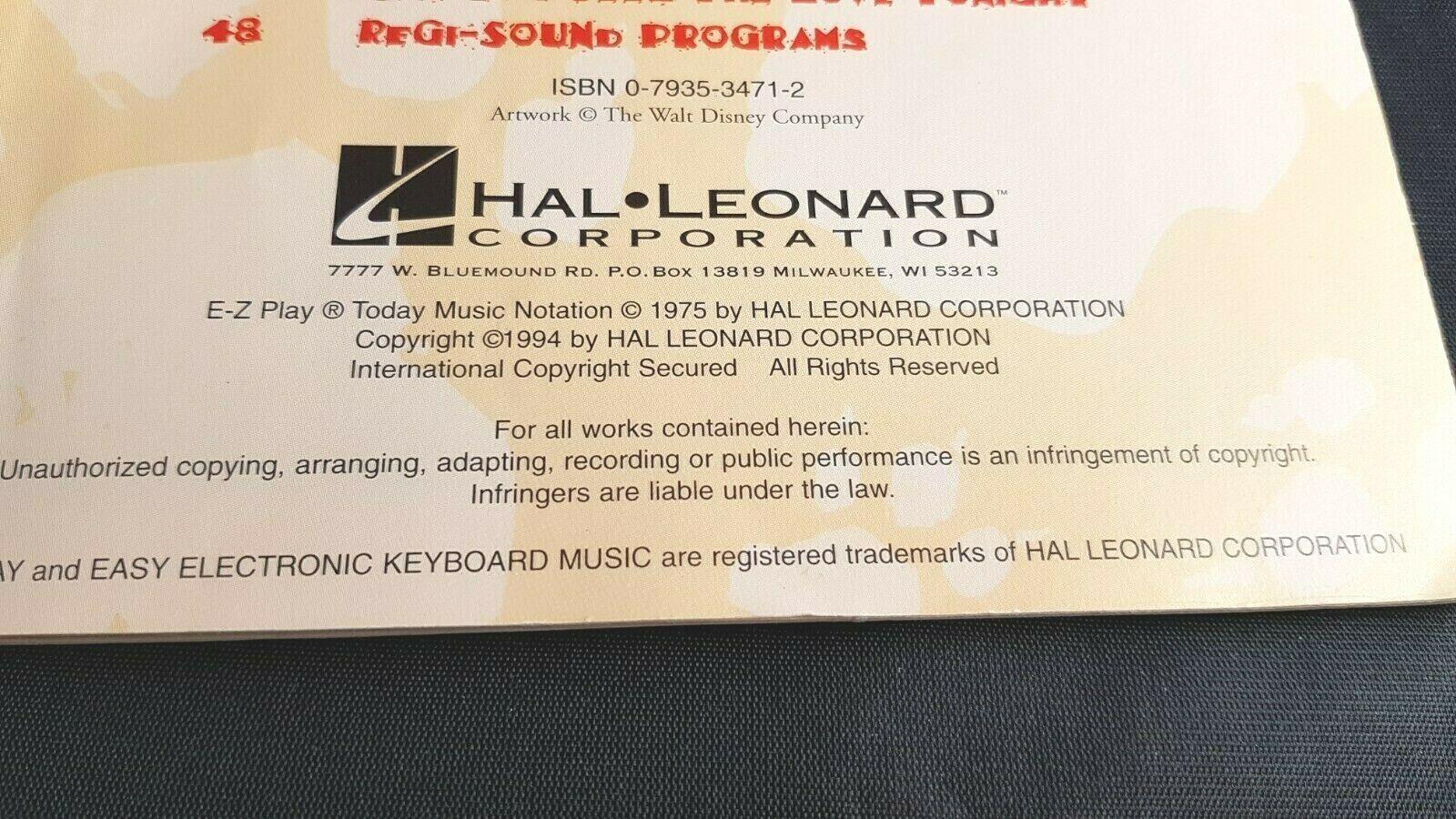 Walt Disney The Lion King 1994 Song Book Vocal Electronic Keyboards Sheet Music