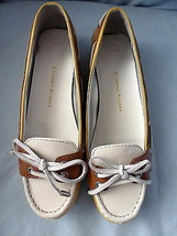 Shoes Etienne Aigner Lake Slip On Leather Boat Shoe Yellow/Brown/White 8M New - $58.49
