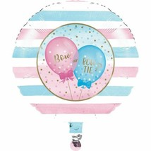 Gender Reveal Balloons Party Boy Girl Metallic Mylar Balloon - $5.29