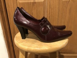 Franco Sarto Women's Patent Leather Burgundy Ankle Heel Size 11 - $20.89