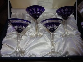 FABERGE MARTINI GLASSES IN  THE ORIGINAL PRESENTATION BOX - $895.00