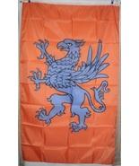 House Harkonnen Dune Frank Herbert 3'x5' Orange & Blue Vertical Flag Banner  - $25.00