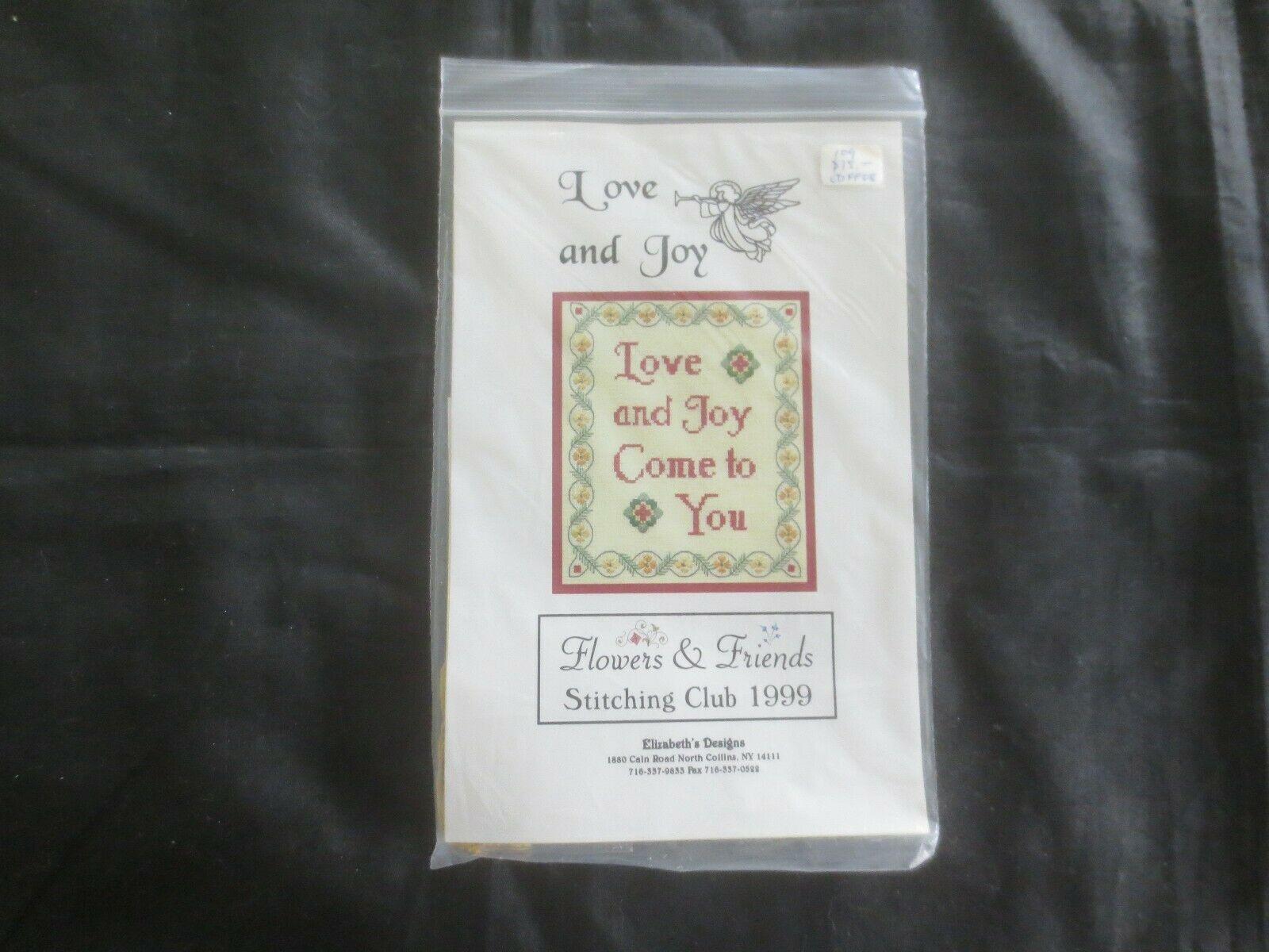 Elizabeth's Designs LOVE AND JOY Cross Stitch KIT w/Gold Thread & Embellishments - $8.91