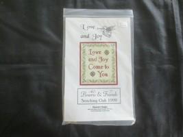 Elizabeth's Designs LOVE AND JOY Cross Stitch KIT w/Gold Thread & Embell... - $8.91