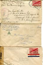 US Army Airmail WWII APO Navy Military Cover Examined Postage Collection  image 10