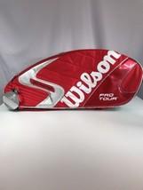 New Wilson K Factor Six-One Tour 90 Super 6 Pack Red Tennis Bag Roger Fe... - $373.65