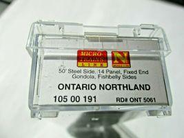 Micro-Trains # 10500191 Ontario Northland 50' Steel Gondola, 14 Panel N-Scale image 5