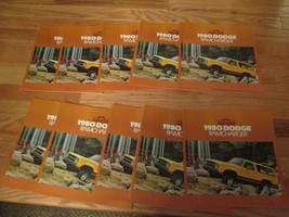 10 Dodge Ramcharger Ram Tough Truck 1980 car Dealer showroom Sales Brochure  - $29.99