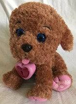 Cabbage Patch Kids Adoptimals Plush Pet Dog Brown Curly Labradoodle Pink Paws - $17.81