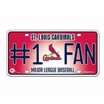 St Louis Cardinals Number 1 Fan License Plate  - $16.00