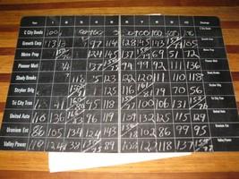 1964 Stocks & Bonds 3M Bookshelf Board Game Piece: Foldout Chalk Slate Board - $7.00